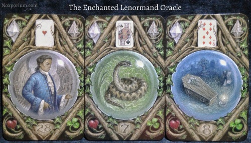 The Enchanted Lenormand Oracle: Man + Snake + Coffin.