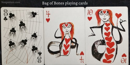 Bag of Bones: 8 of Clubs, 4 of Hearts, & 10 of Hearts.