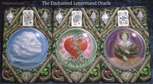 The Enchanted Lenormand Oracle: Clouds + Heart + Diviner.