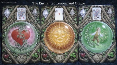The Enchanted Lenormand Oracle: Heart + Sun + Child.