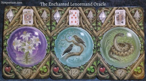 The Enchanted Lenormand Oracle: Lily + Birds + Snake.