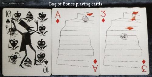 Bag of Bones: 10 of Spades, Ace of Diamonds, & 3 of Diamonds.