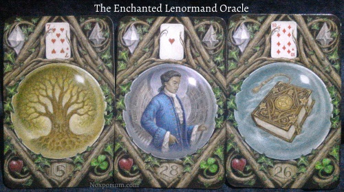 The Enchanted Lenormand Oracle: Tree + Man + Book.