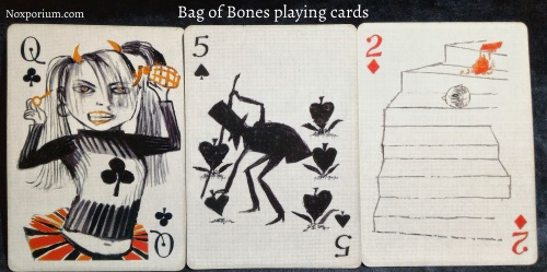 Bag of Bones: Queen of Clubs, 5 of Spades, & 2 of Diamonds.