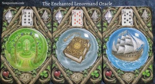 The Enchanted Lenormand Oracle: Garden + Book + Ship.