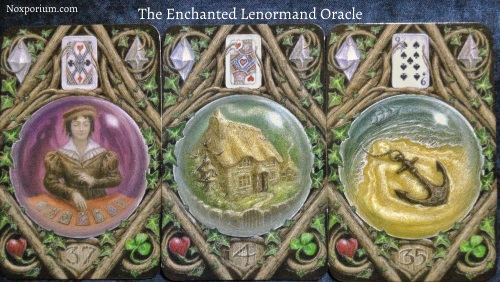 The Enchanted Lenormand Oracle: Diviner + House + Anchor.