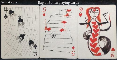 Bag of Bones: 4 of Clubs, 5 of Diamonds, & 9 of Hearts.