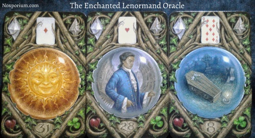 The Enchanted Lenormand Oracle: Sun + Man + Coffin.