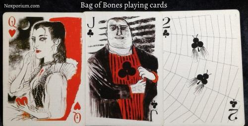 Bag of Bones: Queen of Hearts, Jack of Clubs, & 2 of Clubs.