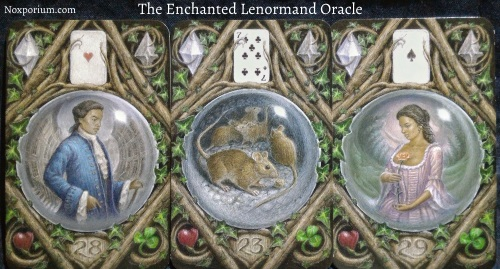 The Enchanted Lenormand Oracle: Man + Mice + Woman.