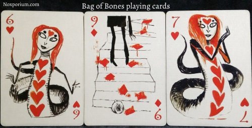 Bag of Bones: 6 of Hearts, 9 of Diamonds, & 7 of Hearts.