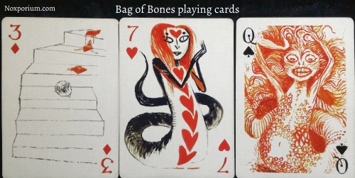 Bag of Bones: 3 of Diamonds, 7 of Hearts, & Queen of Spades.