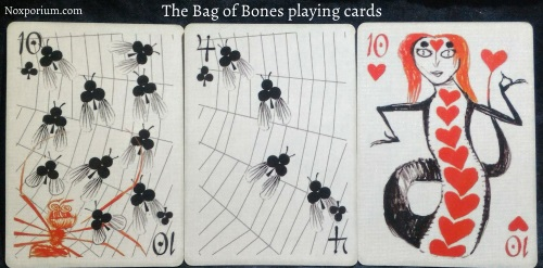 Bag of Bones: 10 of Clubs, 4 of Clubs, & 10 of Hearts.