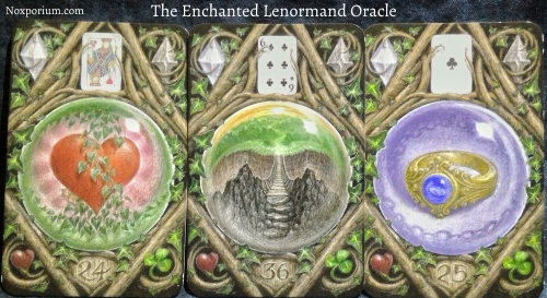 The Enchanted Lenormand Oracle: Heart + Crossing + Ring.