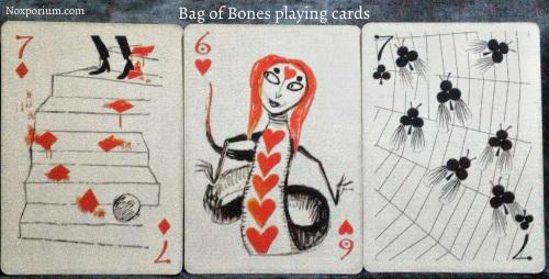 Bag of Bones: 7 of Diamonds, 6 of Hearts, & 7 of Clubs.