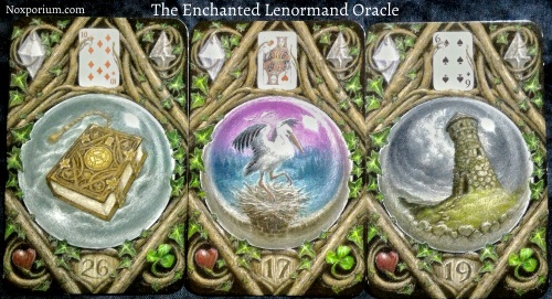 The Enchanted Lenormand Oracle: Book + Stork + Tower.