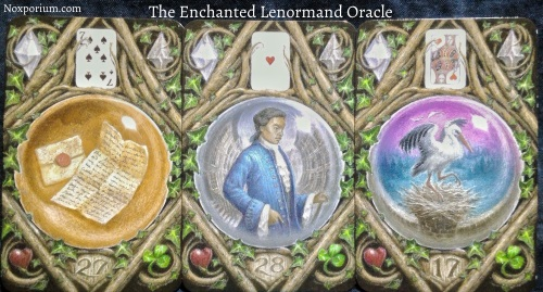 The Enchanted Lenormand Oracle: Letter + Man + Stork.