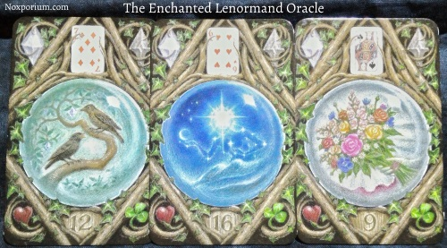 The Enchanted Lenormand Oracle: Birds + Star + Bouquet.
