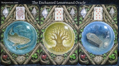The Enchanted Lenormand Oracle: Fish + Tree + Coffin.