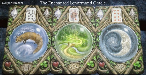 The Enchanted Lenormand Oracle: Fox + Path + Moon.
