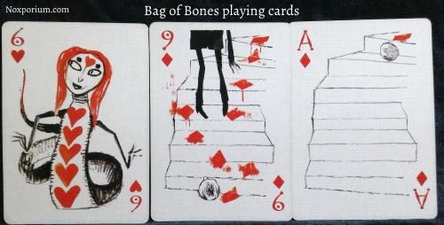 Bag of Bones: 6 of Hearts, 9 of Diamonds, & Ace of Diamonds.