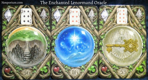 The Enchanted Lenormand Oracle: Crossing + Star + Key.