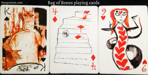 Bag of Bones: King of Spades, 4 of Diamonds, & 9 of Hearts.