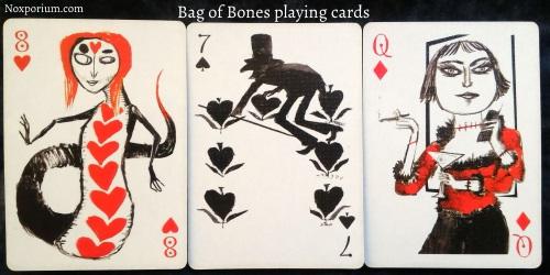 Bag of Bones: 8 of Hearts, 7 of Spades, & Queen of Diamonds.