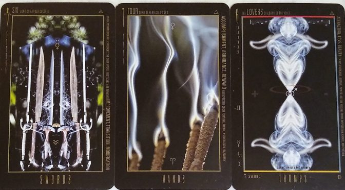 Wyzard of Odd: Six of Swords, Four of Wands, & The Lovers [VI].