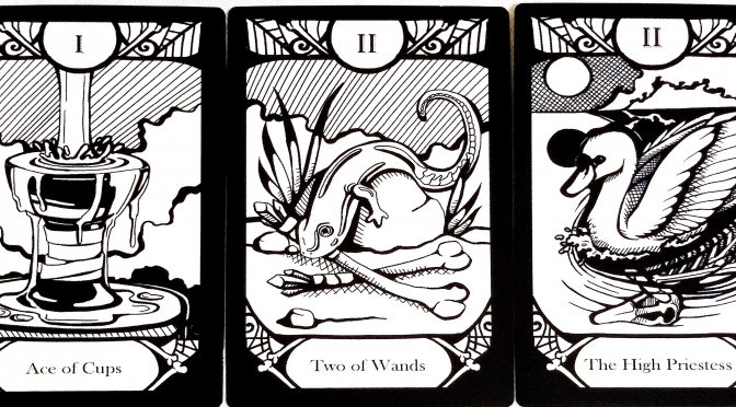 Animalis Os Fortuna: Ace of Cups, Two of Wands, & The High Priestess [II].