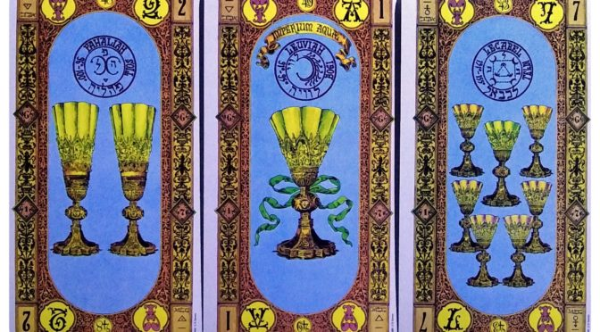 Stairs of Gold: 2 of Cups, Ace of Cups, & 7 of Cups.