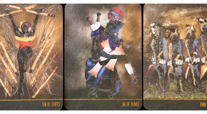 Dust II Onyx: Ten of Staffs, Six of Blades, & Four of Blades.